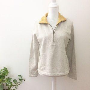 Billy Reid Half Zip Pullover Sweatshirt